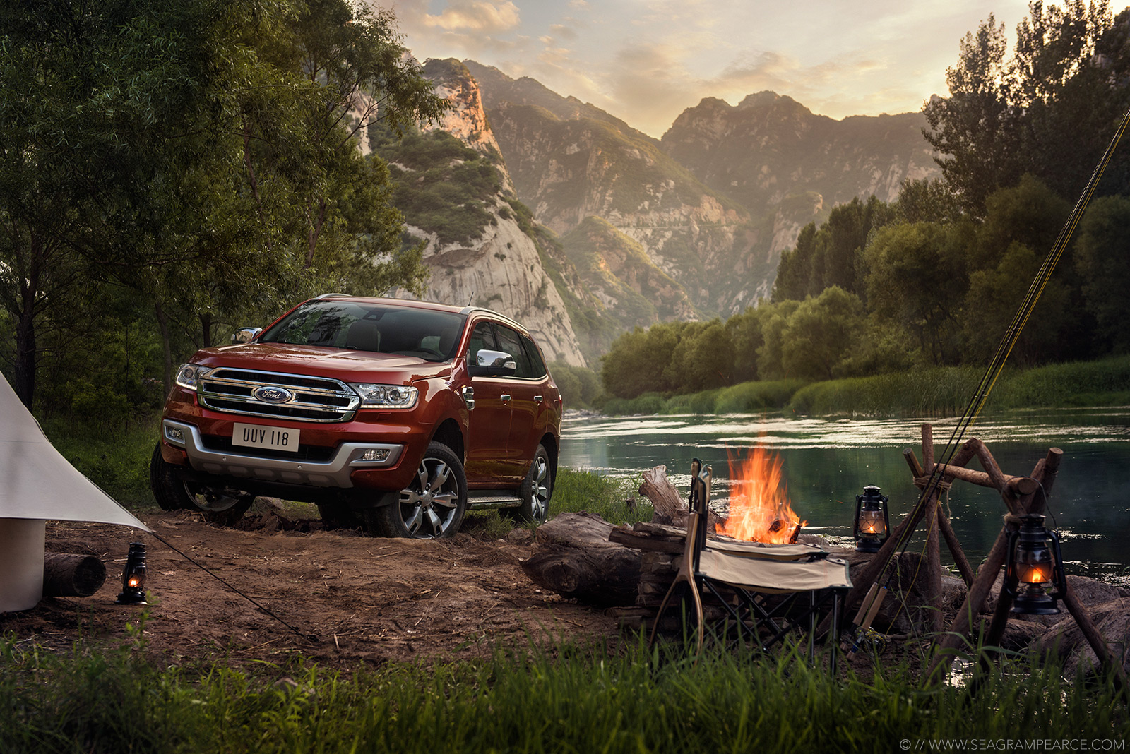 Ford | Everest Camp Fire | Seagram Pearce Photography