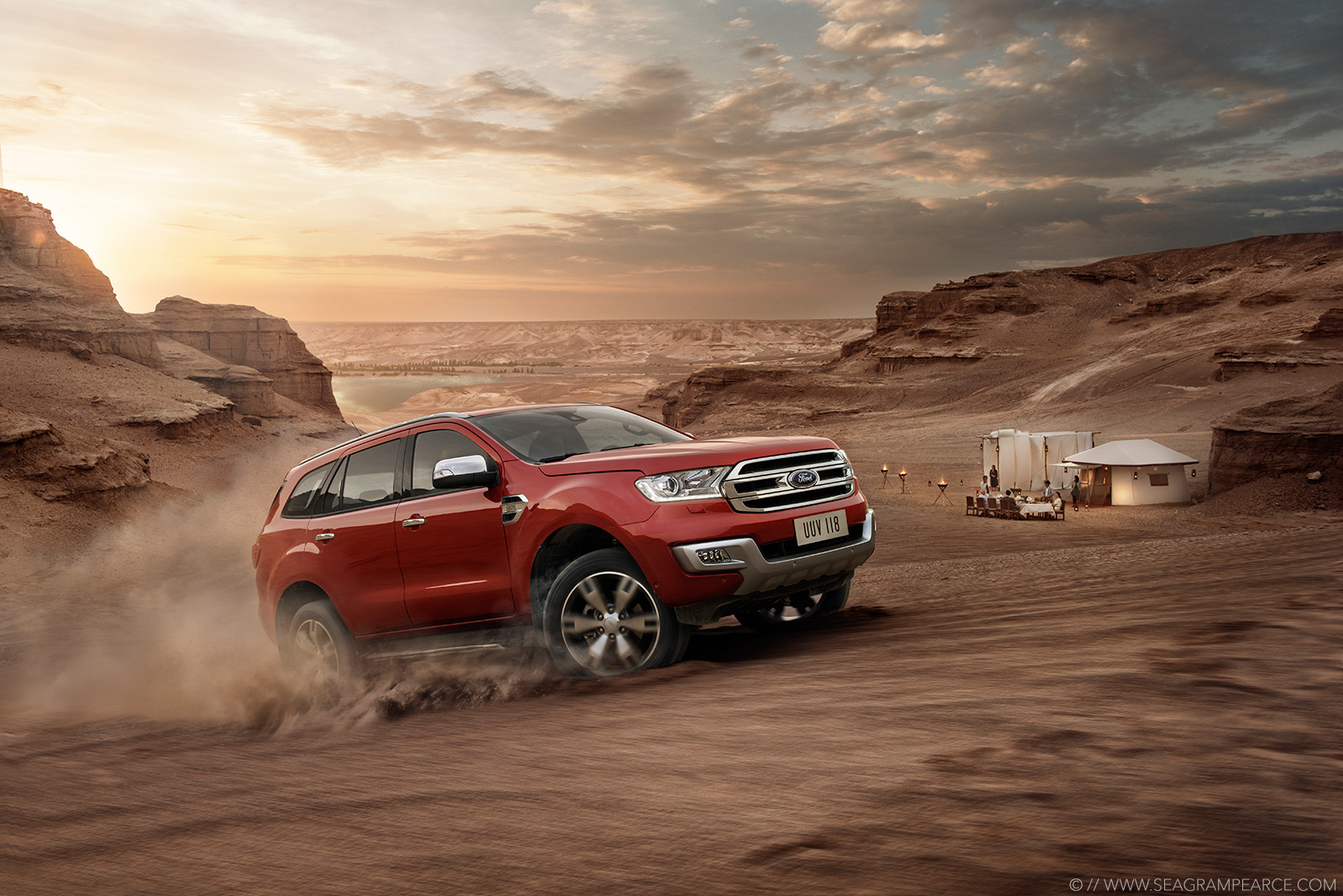 Ford | Everest Desert Camping | Seagram Pearce Photography