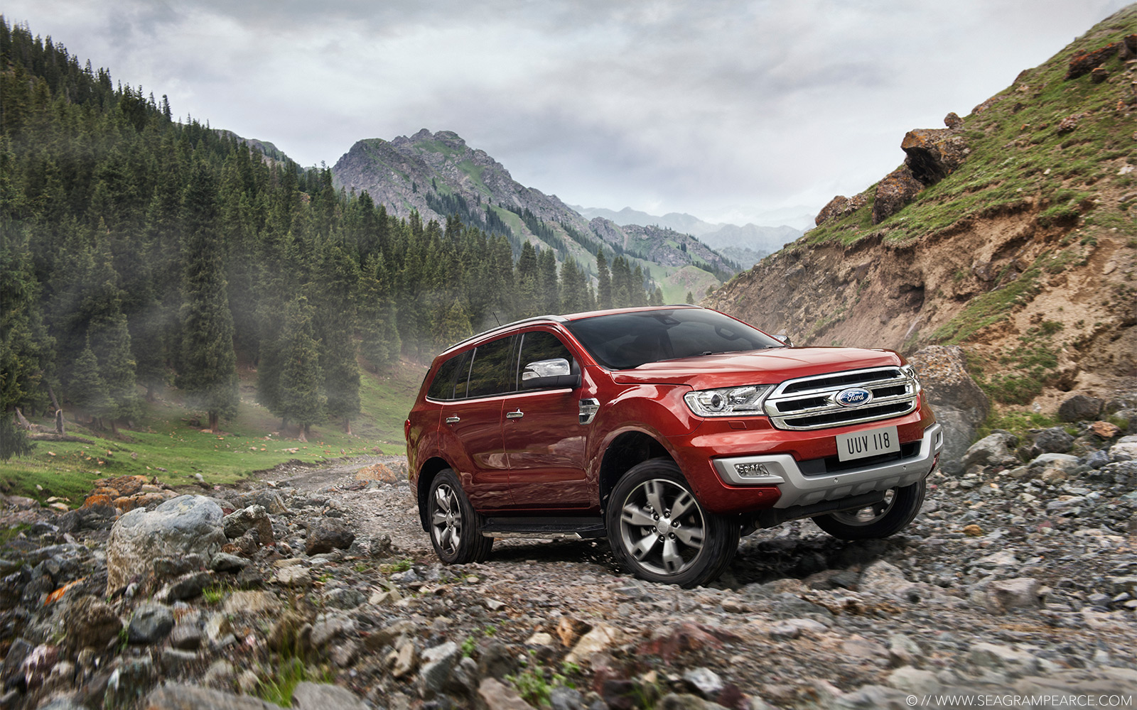Ford | Everest Mountain Rocks | Seagram Pearce Photography